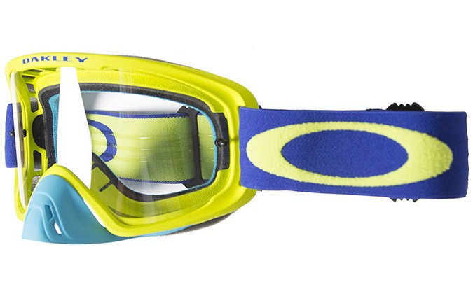 MASCARA  OAKLEY O FRAME 2.0 MX LIME BLUE  CLEAR LENS