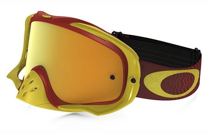 MASCARA OAKLEY CROWBAR SHOCKWAVE ROJO/AMARILLO 24K IRIDIUM