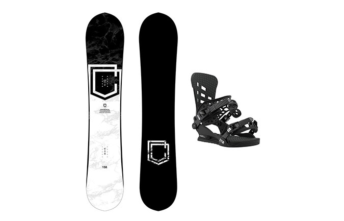 PACK SNOWBOARD COMMENCAL CLASH + FIJACIONES UNION STR