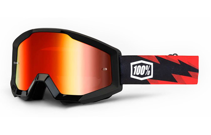MÁSCARA 100% STRATA GOGGLE SLASH - MIRROR RED LENS