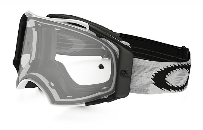 MASCARA OAKLEY AIRBRAKE MX BLANCO MATE SPEED