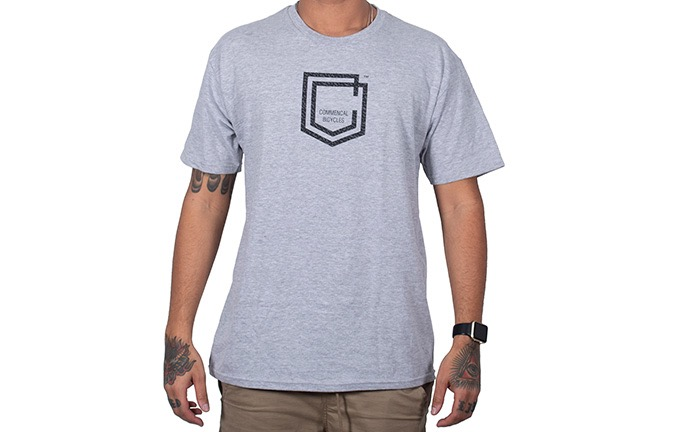 CAMISETA MANGAS CORTAS COMMENCAL SHIELD LIGHT GREY