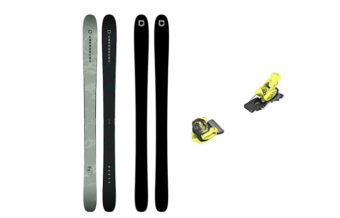 PACK ESQUIS COMMENCAL CLASH GREEN + FIJACION TYROLIA 11 YELLOW