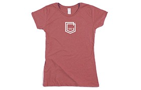 CAMISETA MANGAS CORTAS COMMENCAL GIRL SHIELD BURGUNDY 2019