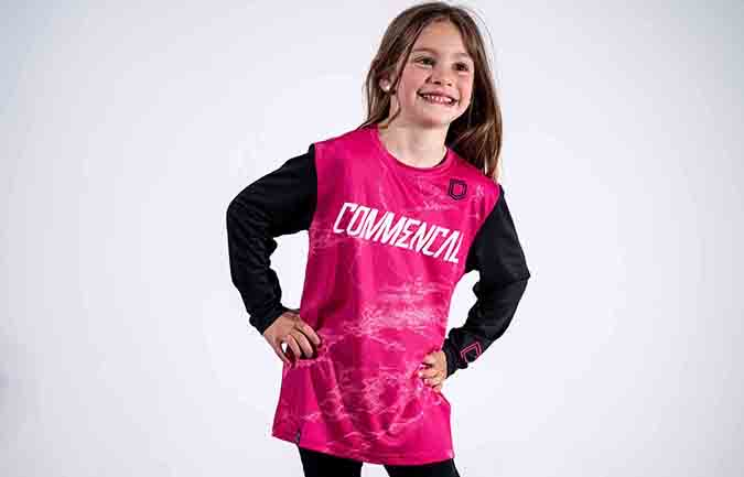 MAILLOT COMMENCAL PERSONALIZABLE KID PINK