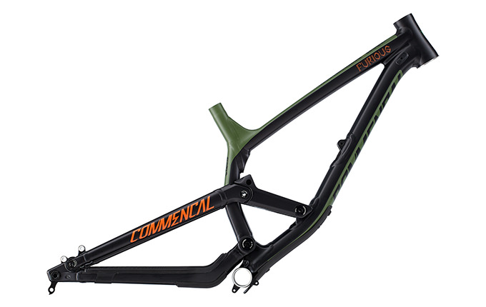 CUADRO FURIOUS BRITISH COLUMBIA 650B GREEN/ORANGE/BLACK 2018