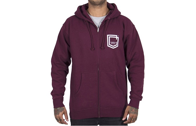 SUDADERA COMMENCAL SHIELD MAROON