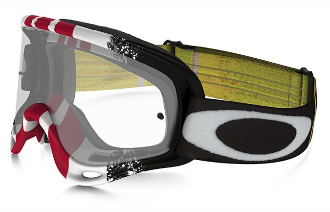 MASCARA OAKLEY O FRAME MX PINNED RACE ROJO/BLANCO/NEGRO CLEAR LENS