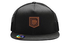 GORRA COMMENCAL TRUCKER VISERA PLANA SHIELD CUERO BLACK