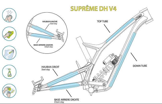 KIT CLEARPROTECT CUSTOM PARA SUPREME DH V4 BRILLANTE