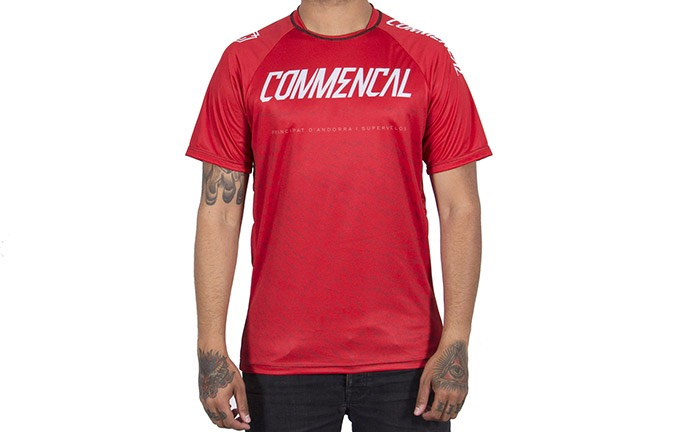 MAILLOT MANGAS CORTAS COMMENCAL RED 2019