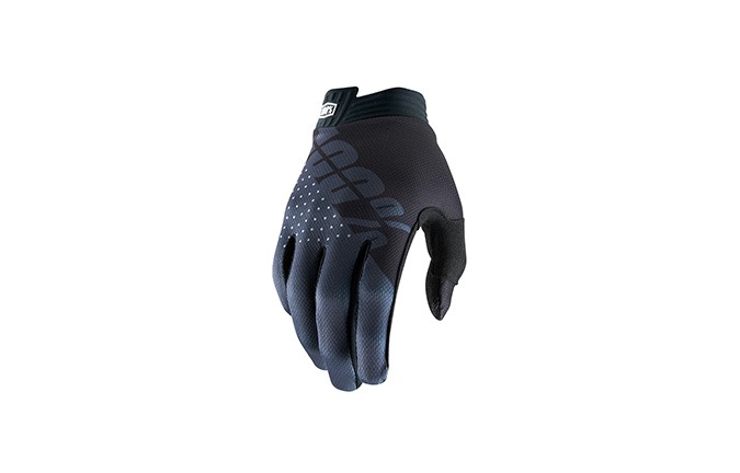 GUANTES 100% KID iTRACK BLACK/CHARCOAL