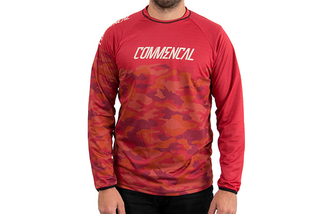 MAILLOT MANGAS LARGAS COMMENCAL TEAM REPLICA ROJO 2018