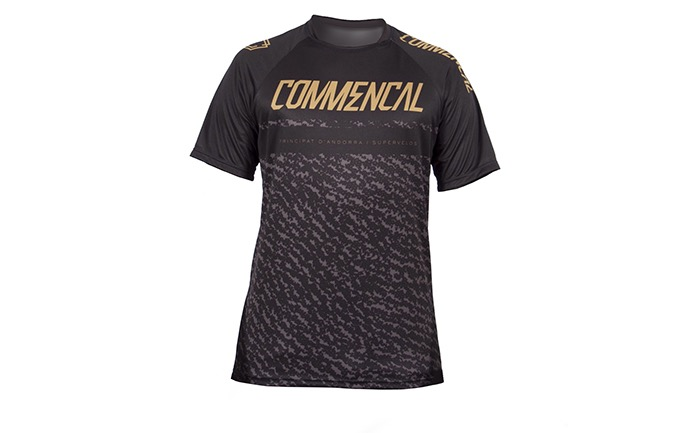 MAILLOT MANGAS CORTAS COMMENCAL BLACK/GOLD 2019