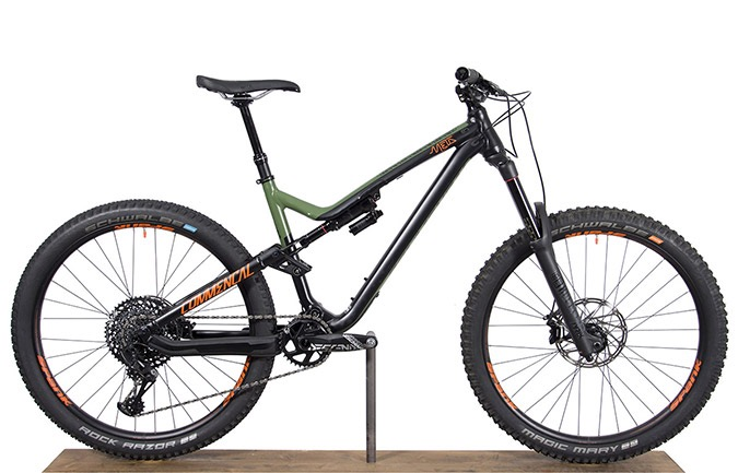 META AM V4.2 BRITISH COLUMBIA GREEN/ORANGE/BLACK 650B 2018 (M)