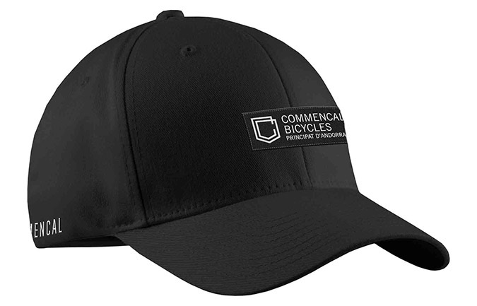 GORRA COMMENCAL VISERA CURVA SHIELD BLACK 2019