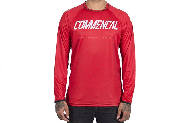 MAILLOT MANGAS LARGAS COMMENCAL RED 2019