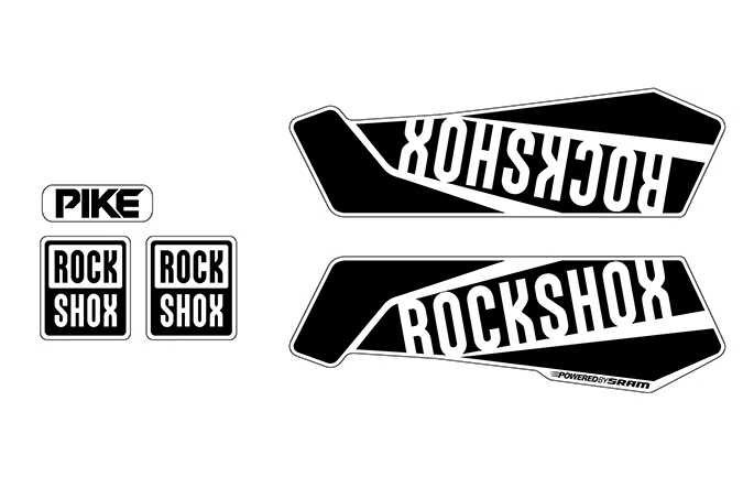 KIT STICKERS ROCKSHOX PIKE NEGRO BRILLANTE
