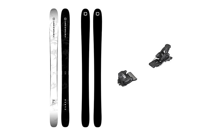 PACK ESQUIS COMMENCAL CLASH BLACK & WHITE + FIJACION TYROLIA 13 BLACK