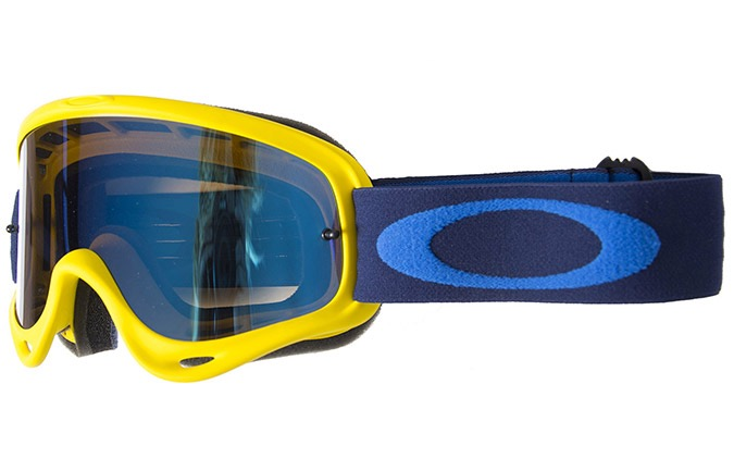 MASCARA OAKLEY O FRAME MX YELLOW NAVY W/BLACK ICE IRIDIUM W/CLEAR LEN
