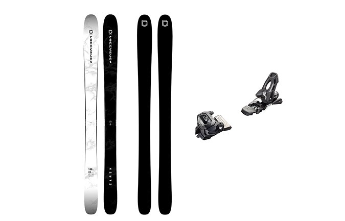 PACK ESQUIS COMMENCAL CLASH BLACK & WHITE + FIJACION TYROLIA 11 BLACK