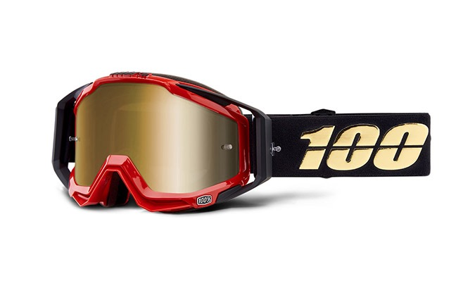MÁSCARA 100% RACECRAFT HOT ROD - MIRROR TRUE GOLD LENS 2019