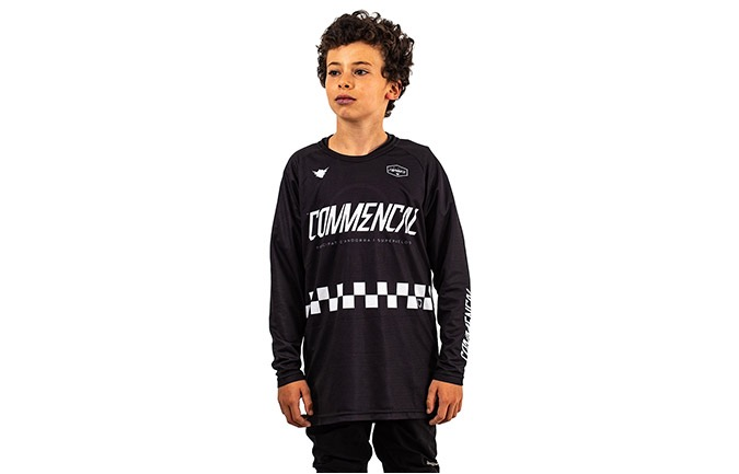MAILLOT KID COMMENCAL/FORBIKE MANGAS LARGAS BLACK