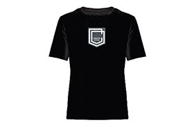 CAMISETA MANGAS CORTAS COMMENCAL KID SHIELD BLACK 2019