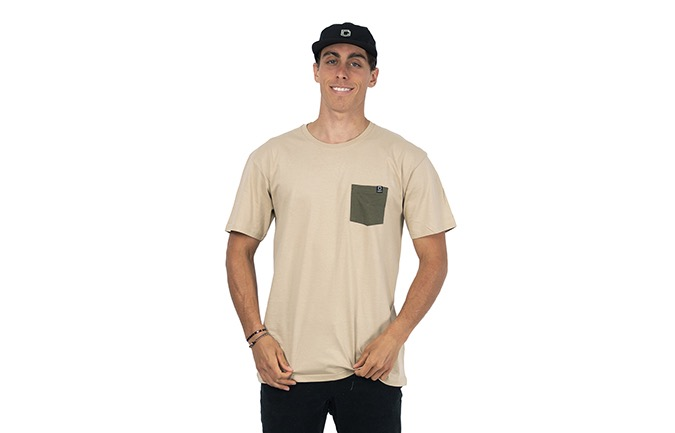 CAMISETA BASIC SAND / GREEN
