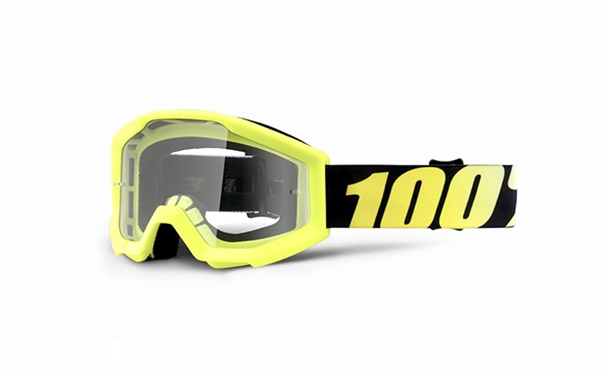 MÁSCARA 100% STRATA JUNIOR NEON YELLOW - CLEAR LENS
