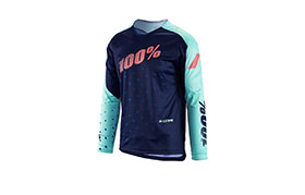 MAILLOT MANGAS LARGAS 100% NIÑO R-CORE-DH NAVY