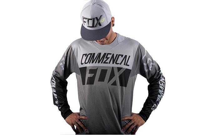 MAILLOT COMMENCAL POR FOX HEAD GRIS 2016