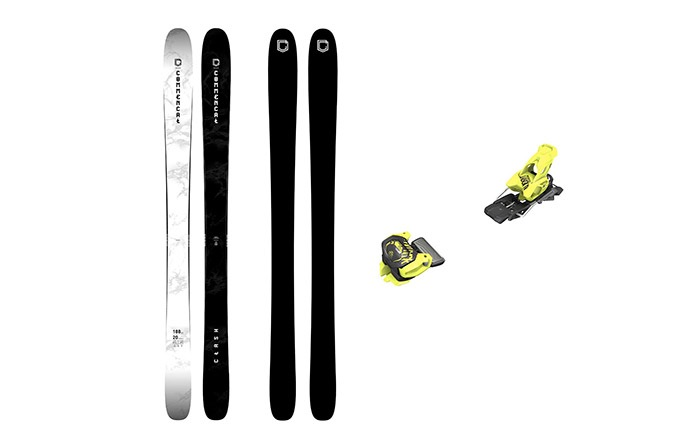 PACK ESQUIS COMMENCAL CLASH BLACK & WHITE +FIJACION TYROLIA 11 YELLOW