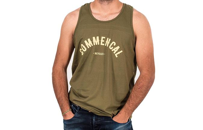 TANK TOP COLLEGE MILITARY GREEN