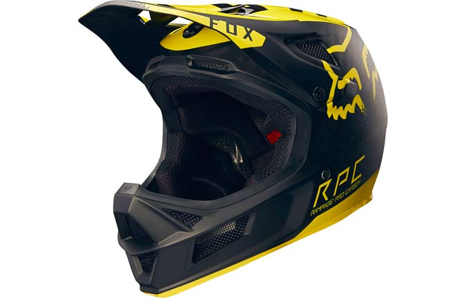 CASCO FOX RAMPAGE PRO CARBON YELLOW