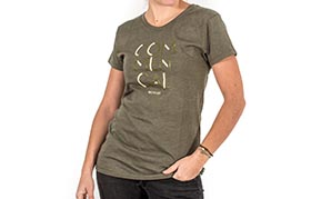 CAMISETA 3 LINES OLIVE GIRLY