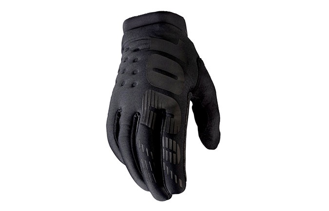 GUANTES 100% KID BRISKER BLACK/GREY