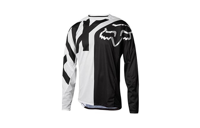 MAILLOT MANGAS LARGAS FOX DEMO KID WHITE/BLACK