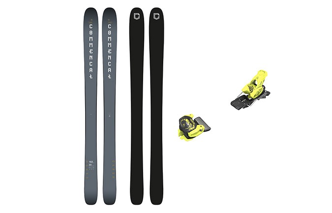 PACK ESQUIS COMMENCAL CLASH NARDO GREY + FIJACION TYROLIA 11 YELLOW
