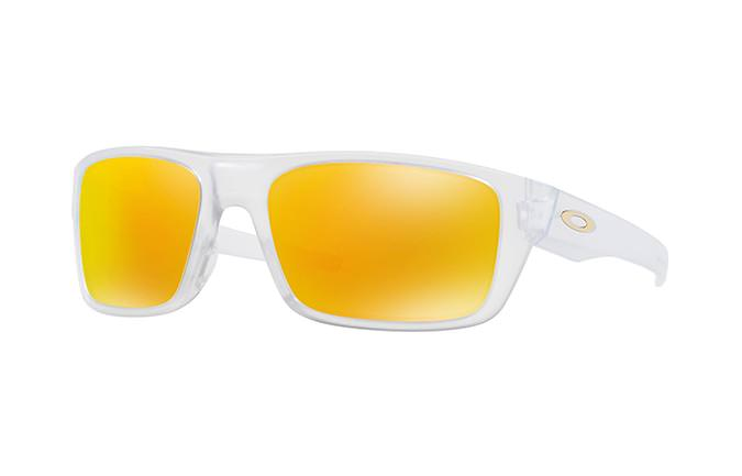 GAFAS DE SOL OAKLEY DROP POINT MATTE CLEAR/FIRE IRIDIUM