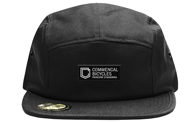 GORRA COMMENCAL FIVE PLANA SHIELD BLACK