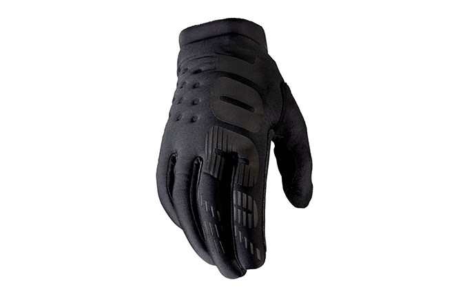 GUANTES 100% BRISKER BLACK/GREY