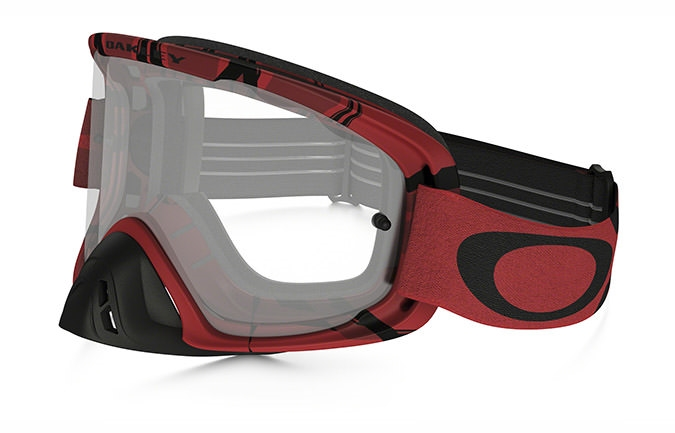 MASCARA OAKLEY O FRAME 2.0 MX INTIMIDATOR BLOOD RED CLEAR LENS
