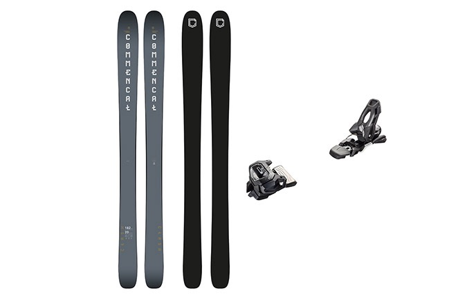 PACK ESQUIS COMMENCAL CLASH NARDO GREY + FIJACION TYROLIA 11 BLACK