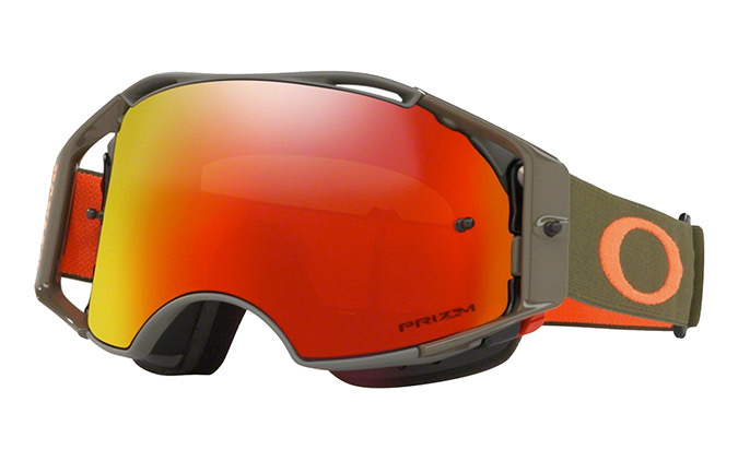 MÁSCARA OAKLEY AIRBRAKE MTB DARK BRUSH ORANGE - PRIZM TRAIL TORCH IRI